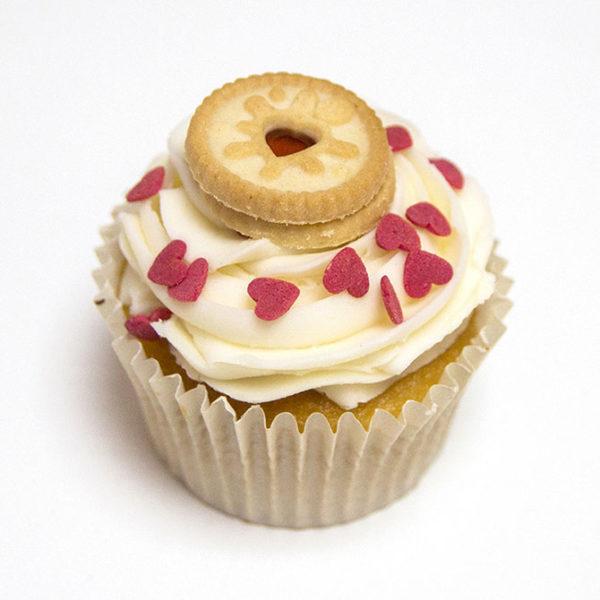 Jammie Dodger Cupcake