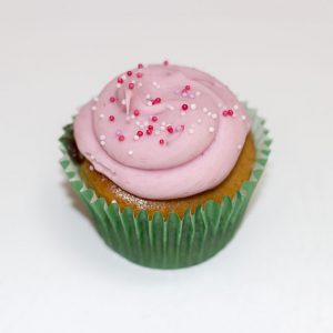 vegan strawberry cupcake