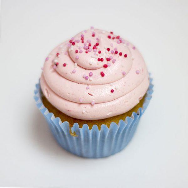 gluten free strawberry cupcake