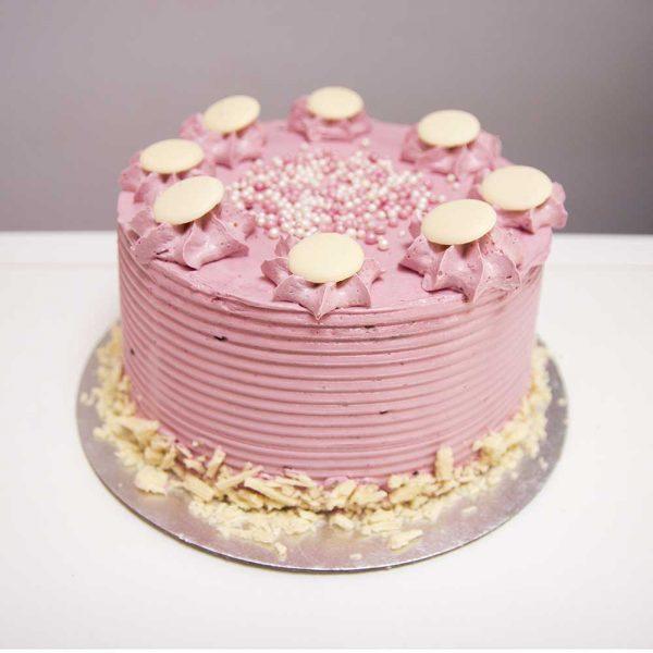 Raspberry and White Choc Cake